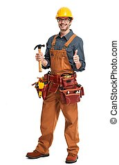 Construction worker. - Smiling professional construction...