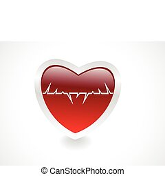 abstract medical heart vector illustration