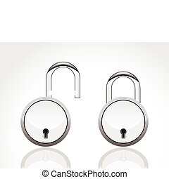 abstract silver lock  icon vector illustration