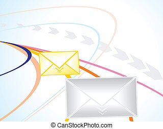 abstract internet concept with mail icon