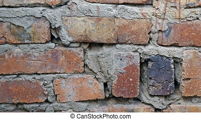 Footage old brick wall background. - Footage old brick wall...