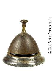 service bell - vintage service bell isolated on white...