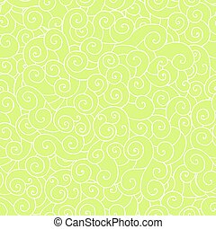 whorl doodle pattern green - vector seamless hand drawing...