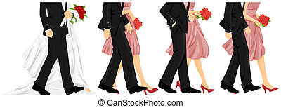 Wedding Walk - Wedding Procession with Clipping Path
