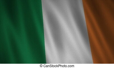Knitted Ireland Flag. - Beautiful animation of knitted Irish...
