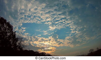 The morning sky at sunrise morning sky cloud