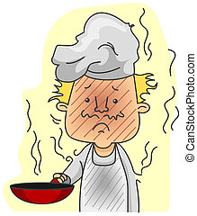 Burned Chef with Clipping Path