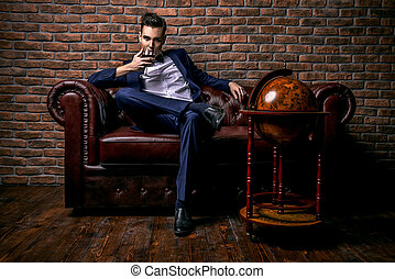 glamorous man - Imposing well dressed man in a luxurious...