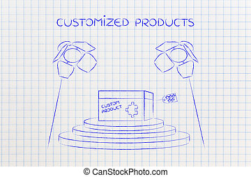 product customization concept: personalized item under...