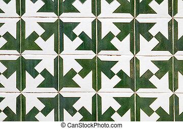 Português, azulejos, típico, Padrão