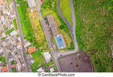 Banos De Agua Santa Latin American City, Aerial View, Ecuador