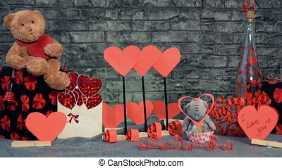 mix of 4 shots of decoration for Valentine's Day