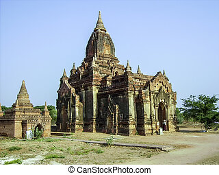 pagoda in Bagan(Pagan), Mandalay, Myanmar - old pagoda in...