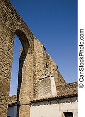 Evora aqueduct - view of the Evora aqueduct, a roman empire...