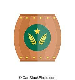 Beer barrel vector illustration. - Alcohol beer barrel...