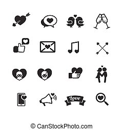 Set of valentine day for love and wedding card decoration icon vector illustration eps 10 002