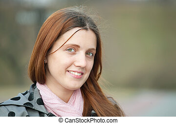 long-haired girl outdoo - portrait of beauty long-haired...