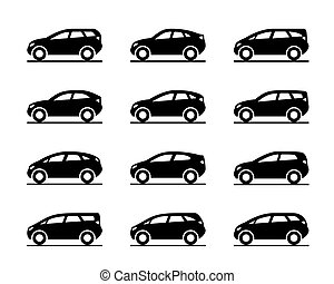 Vans and sport utility vehicles - vector illustration
