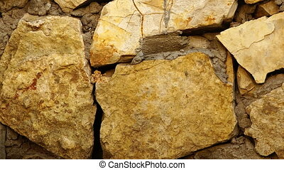 Retro stone wall background texture. - Retro stone wall...