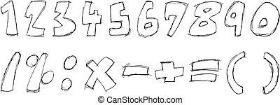 Sketchy numbers