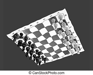 think unusual: liquified black and white chessboard upside...