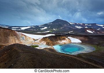 Leirhnjukur - Acid hot lake in the geothermal valley...