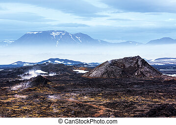 Leirhnjukur - Lavas field in the geothermal valley...