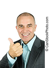 Man giving thumbs-up
