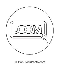 Domain dot COM sign icon