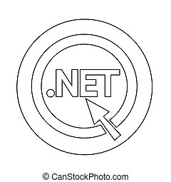 Domain dot net sign icon