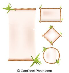 Bamboo Border Frame Template Design Vector
