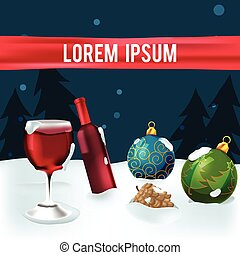 Christmas Outdoor Object Party Background Vector