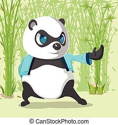 Kungfu Panda Cute Character Design Vector