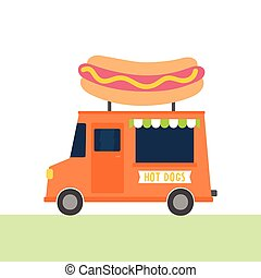 Hot dogs truck.