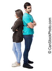 Young couple with dating problems - Attractive young couple...