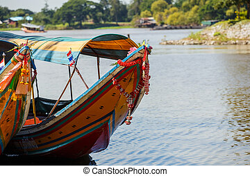 Longtail boat in river of Thailand