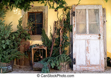 old house with decoration
