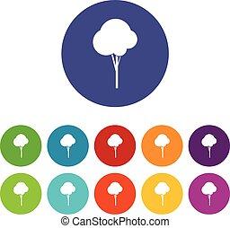 Fluffy tree set icons
