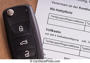 Car Insurance - Car key and letter of indemnity insurance