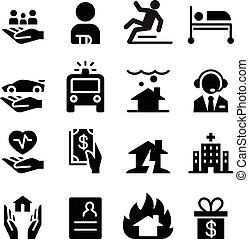 insurance business icons