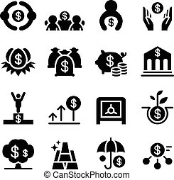 Saving money & Investment icons