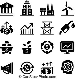 Stock market & Investment icons
