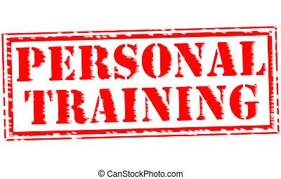 PERSONAL TRAINING Red Stamp Text on white backgroud