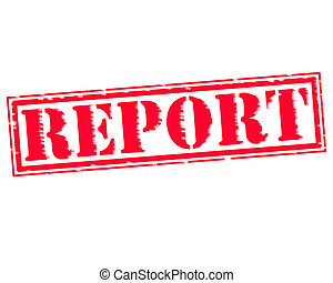 REPORT RED Stamp Text on white backgroud