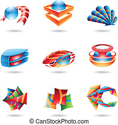 Colorful Abstract 3D Icons