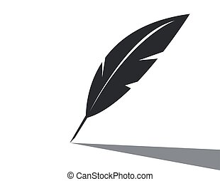 Vector feather icon on white background