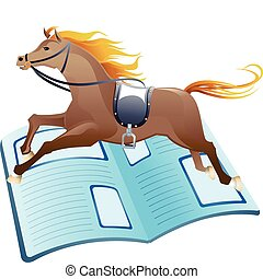 Horse Racing News - Illustration of horse racing news...
