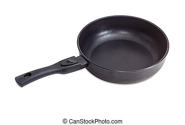 Frying pan with ceramic non-stick coating and removable...