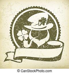 Leprechaun circle logo grange - Irish leprechaun circle logo...