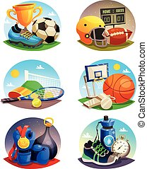 Pictures Collection Of Sport Inventory - Collection of...
